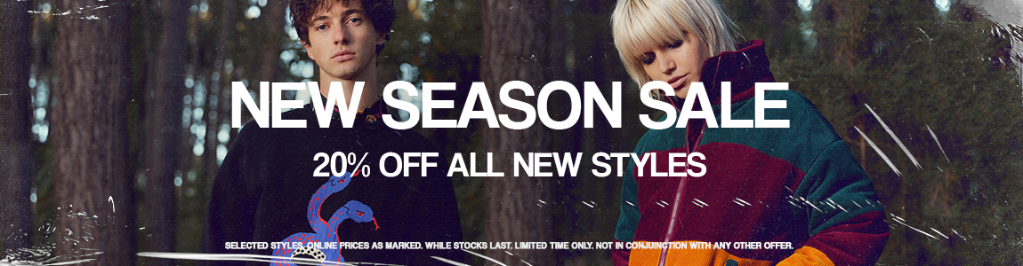 20-50% off all new arrivals